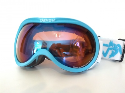 MASCHERA DA SCI DEMON  BUBBLE BLUE