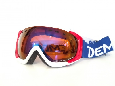 MASCHERA DA SCI DEMON MATRIX WHITE RED