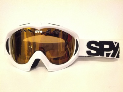 MASCHERA DA SCI SPY WHITE GOLD MIRROR